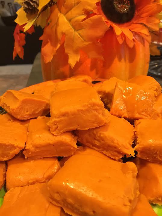 pumpkin pie fudged